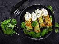 Палачинки със спанак и крема сирене